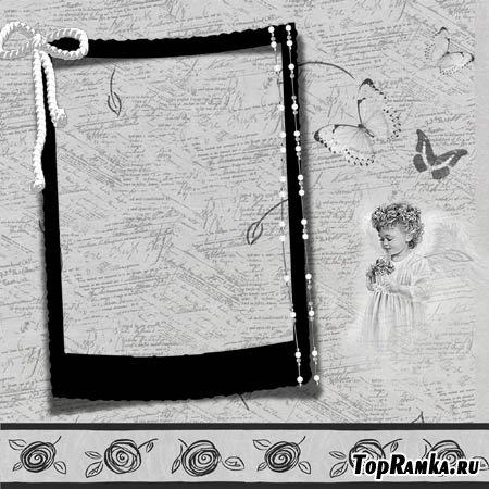 Черная рамка для фотошопа
